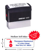 DL100 Medium Self-Inking Stamp