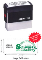 DL200 Large Self-Inking Stamp