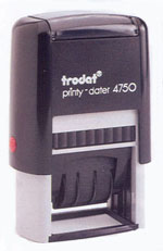 DL4750 Dater Stamp with Your Imprint - Self-Inking