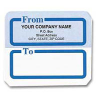 Label 0101 Shipping Label, Blue