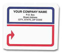 Label 0103 Shipping Label, Red/Blue