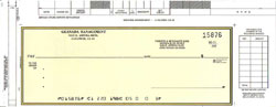 EL825 - CASH DISBURSEMENT ONE-WRITE CHECK - TOP WRITE