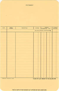 W50276L - PLAIN STATEMENT-LEDGER
