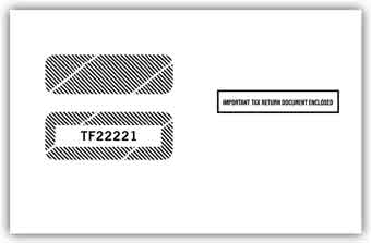 TF22221  1099 /1098 Double Window Tax Form Envelope