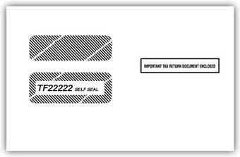 TF22222  1099 /1098 Double Window Self-Seal Tax Form Envelope