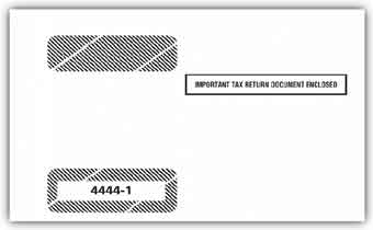 TF44441 W-2  4-Up Horizontal Laser Form Double Window Tax Envelope