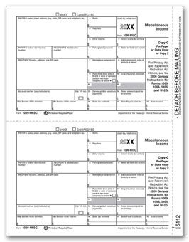 TF5112  1099 Miscellaneous Income C Payer/State Copy Laser Form