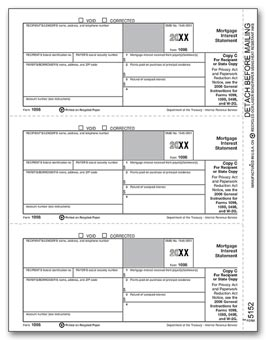 TF5152  1098 Mortgage Interest Lender/State Copy C Laser Tax Form