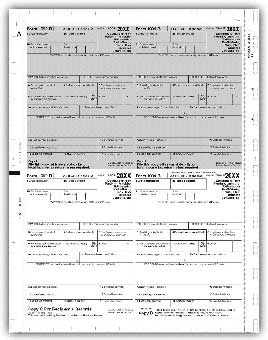 TF5177  1099-R  4-Up Laser Pressure Seal Tax Forms