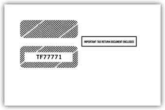 TF77771  1099 Misc/1099R Double Window Tax Form Envelope