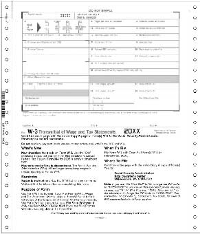 TF7933  W-3 Transmittal Continuous Tax Form